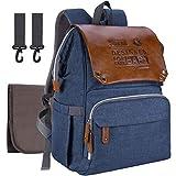 Baby Wickelrucksack Wickeltasche mit Wickelunterlage SUNPOW Multifunktional Oxford Große Kapazität Babytasche Kein Formaldehyd Reiserucksack für Unterwegs (Blau)