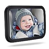 TOPELEK Rücksitzspiegel, Spiegel Auto Baby, Rückspiegel Baby Autospiegel Shatterproof Car Rückspiegel kompatibel mit meisten Auto drehbar doppelriemen, 360° schwenkbar für Baby Kinderbeobachtung.