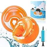 AGPTEK Kinder Schwimmflügel, Sicherheits Schwimmhilfe mit DREI-Kammersystem für Kleinkinder und Babys, Armumfang 21-23cm, Empfohlenes Gewicht 6-20kg, Orange