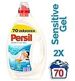 Persil  Sensitive Gel, Flüssigwaschmittel, mit Tiefenrein-Technologie, 2er Pack (2 x 70 Waschladungen)