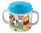 POS 68939088 - Trinklernbecher mit Disney Winnie the Pooh Motiv, Schnabeltasse für Kinder mit 2 Griffen, Jungen und Mädchen, Füllmenge ca. 200 ml, aus Melamin / ABS (BPA-frei)