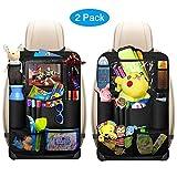 Auto Rückenlehnenschutz, omitium 2 Stück Auto Rücksitz Organizer für Kinder mit Große Taschen und iPad Tablet Fach Wasserdicht Autositzschoner Kick-Matten-Schutz für Autositze