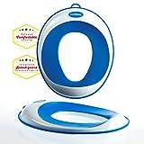 Toiletten-Training-Sitz - Kinder-Toiletten-Training-Klobrille für Jungen und Mädchen - sichere rutschfeste Oberfläche - UMSONST mitgeliefert: Haken mit Saugnapf zur Aufbewahrung