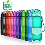 ZOUNICH Trinkflasche 1L Sport BPA frei Auslaufsicher 700ml/500ml/400ml Wasserflasche Kunststoff Sporttrinkflaschen für Kinder Schule, Joggen, Fahrrad, öffnen mit Einer Hand Trinkflaschen Filter Liter