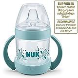 Nuk Nature Sense Trinklernflasche, Auslaufsicher, Extra Breite & Weiche Trinktülle, 6-18 Monate, BPA-frei, 150ml, Grün