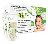 Muttermilchbeutel, 100 Stück Aufbewahrungsbeutel vorsterilisiert und gebrauchsfertig, BPA Free, 210 ml