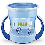 NUK Mini Magic Cup Trinklernbecher | 360° Trinkrand | 160ml | auslaufsicher | BPA-frei | 6+ Monate | blau
