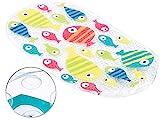 BadeStern Badewannenmatte: rutschfeste Badewannen-Matte mit Fisch-Motiv, 69 x 38 cm (Antirutschmatte Badewanne)