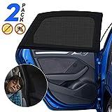 Sonnenschutz Auto Baby mit UV Schutz, 2 Stück Sonnenschutz Auto für Kinder Erwachsene Haustiere mit UV Schutz/Blendschutz, 40'x20' für Die Meisten Auto - Amteker