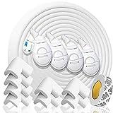 Kinderschutz für Möbel. Baby- und Kindersicherheitsset mit Kantenschutz Babund 8 Eckenschutz aus Schaumstoff. 6,4 M Mesamt für Möbel und Tische. Türstopper & 4 Kindersicherung Schrank