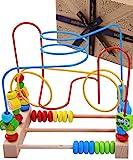 Jaques von London Luxus motorikschleife Aktivitäten Spielzeug Würfel - Qualitäts Holzspielzeug für 1 2 3-Jährige und Großes Montessori Spielzeug - Perfekt Kleinkind Spielzeug 1795