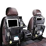 Auto Organizer Auto Rückenlehnenschutz mit klappbarem Tisch PU Leder Auto Rücksitz Für Kinder Babyspielzeug und Tablette