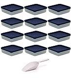 Viva-Haushaltswaren 12 Gefrierdosen, Kühlschrankdosen je 250 ml Volumen BPA-frei, inkl. einer Einfüllschaufel