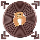 Kinderschutz für Möbel von Bébé Earth | Baby- und Kindersicherheit-Set mit 6m Kantenschutz und 8 Stück Eckenschutz aus Schaumstoff | für Tisch, Kommode u.v.m | Türstopper gratis dazu | Braun