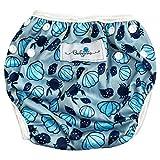 Babyino Wiederverwendbare Schwimmwindel für Babys (Muschel Blau) 6 bis 36 Monate Größe Verstellbar