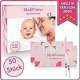 MediVinius Ovulationstest mit 15, 30 oder 50 Streifen - Fruchtbarkeitstest für Frauen - Teststäbchen für Ovulation Tests - Eisprung Teststreifen - praktisches Eisprung Messgerät LH Teststreifen