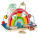 "Howa Motorikspielzeug Motorikschleife mit Puzzle Holz ""My Rainbow"" 6006"