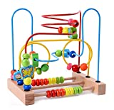 Lewo Motorikschleife aus Holz mit DREI verschiedenen Schleifen Tierkreis Roller Coaster um Korn Maze Spielzeug für Kinder