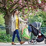 Kinderwagen Haken für Wickeltaschen - Kinderwagenhaken Taschenhaken, Anhänger für Kinderwagen, Karabinerhaken für Handtaschen, Universale Passform, 2er Packung von Baby Uma