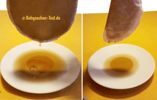 Test der Flüssigkeitaufnahme