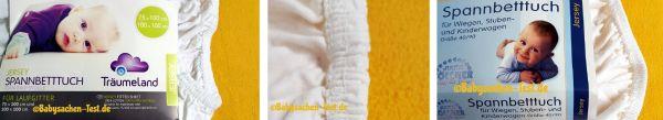 Spannbettlaken Babybett Test