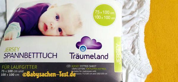 Träumeland Spannleintuch Kinderbett Test